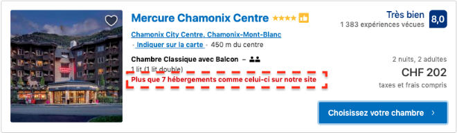 Illustration de l'urgence en marketing avec un exemple de Booking.com