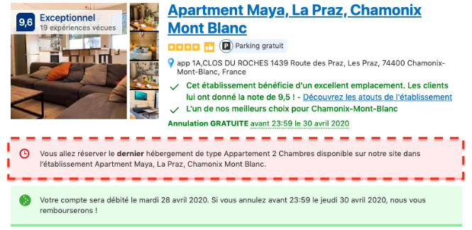 Illustration du marketing de Booking